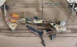 NWT PARKER HUNTER MAG COMPOUND BOW w/Case Arrows. MSRP $359