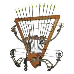 Organized Hunting Bow Wall Rack For Compound/Recurve Bows 12