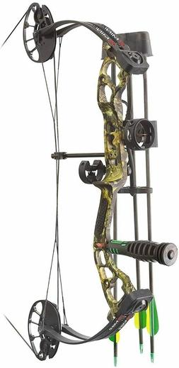 PSE Mini Burner RTS Compound Bow Package RH Mossy Oak Break
