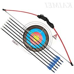kaimei 43 Inch Recurve Bow Archery Red Limbs for Youth Begin
