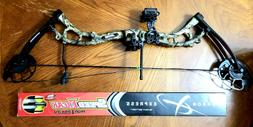 BEAR SALUTE COMPOUND BOW RTH MOSSY OAK + CARBON EXPRESS SPEE