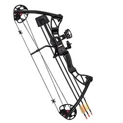 SAS 25-55 Lb 20-29'' Adjustable Quad Limb Compound Bow Packa