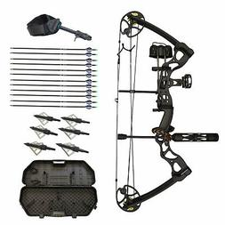 SAS Rage 70 Lbs 30'' Compound Bow Travel Package with Arrows