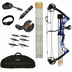 SAS Rex 55Lb Hunting Compound Bow Package w/ Bow Sight, Arro