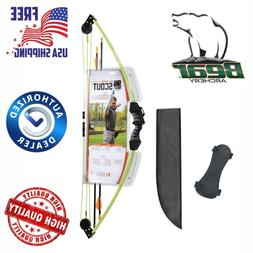 Bear Archery Scout Youth Bow Set for Beginner, Outdoor Sport