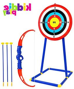 Kiddie Play Toy Archery Set for Kids with Target and Bow and