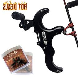 Xgeek Trigger Release Aid Archery 3-Finger Hand Held Compoun