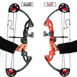 """US 15-29Lbs 19""""-28"""" Teens Compound Bow Set with Arrows for A"""