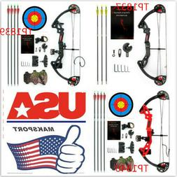 US bows MA K. Black/Red Compound Bow Right Hand 15-29lbs Adj