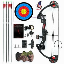 US M.A.K Compound Bow arrow Set With 4pcs Carbon Arrows Targ