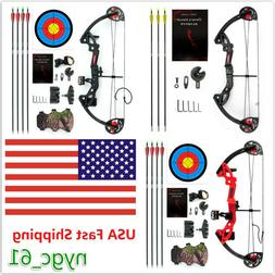 US M.A.K Teens Compound Bow Set  15-29lbs w/ Arrows Archery