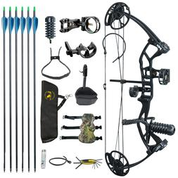 US M2 Black Youth Compound Bow Set For Beginners Adolescents