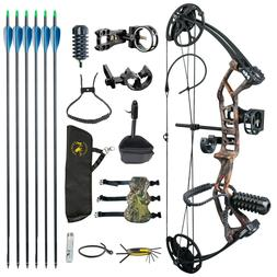 US M2 Camo Youth Compound Bow Set 290fps IBO For Beginners A