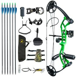 US M2 Green Youth Compound Bow Set For Beginners Adolescents