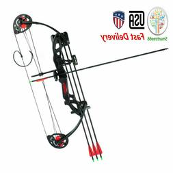 US  Teens Compound Bow Set 15-29lbs Bow Sight Armguard Brush