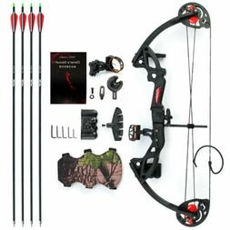 US MAK Teens Compound Bow Set 15-29lbs Bow Sight Armguard Br