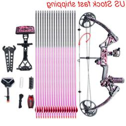 "US Women Children Youth 19-30""/10~50LBS Compound Bow w/Arrow"