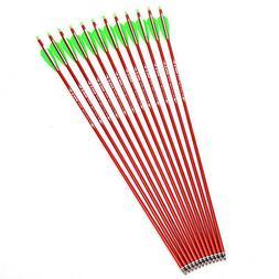 "x12 New Aluminum Arrow 30"" Plastic feather sp500 for 30-80lb"