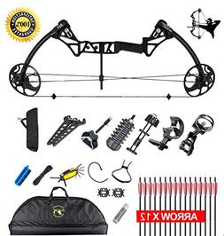 XQMART XGeek Compound Bow Package & Arrow Accessory Kit,M1,a