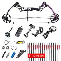 XGeek Compound Bow Packages for Woman,Adult Hunting Bow with