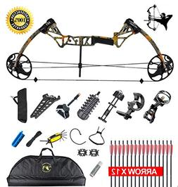 "XQMART XGeek Compound Bow Package,M1,19""-30"" Draw Length"