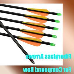 Youth Arrow Fiberglass Arrows Archery Shooting Practice Comp