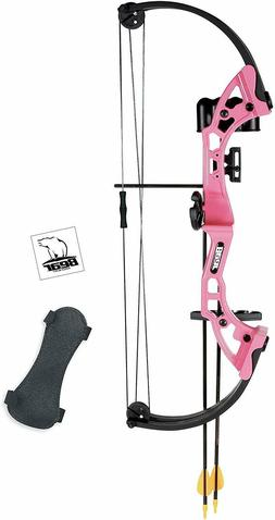 Bear Archery Youth Bow Pink Brave Girl Beginner Compound Bow