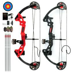 Youth Compound Bow Kit W/4pcs Arrows&Target Right Hand Pract